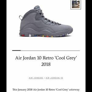 Air Jordan retro 10 cool gray size 11